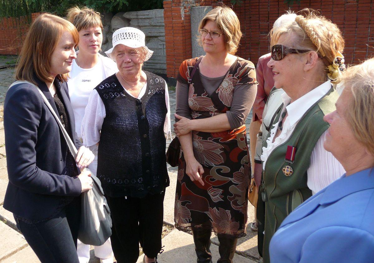 Л.Кочержина и куратор Ани Кройтляр