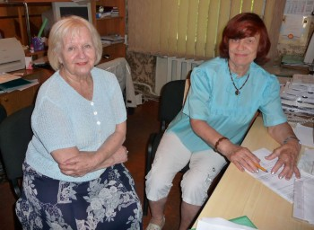 Авилова Н.А. из Донецка в офисе оформляет документы