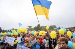 Мітинг біля Музею історії України в Другій світовій війні