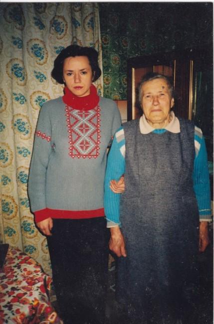 Любов Павлівна Кривосницька з донькою Ларисою в останній період свого життя