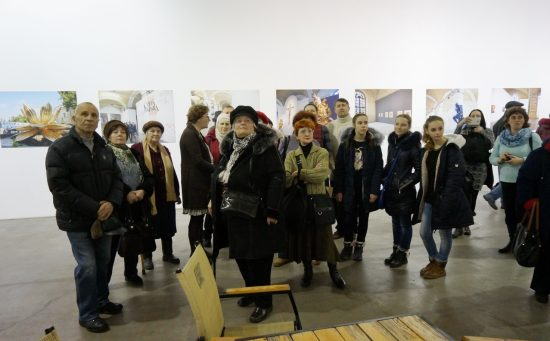 Під час екскурсії у Мистецькому Арсеналі. Фото автора тексту