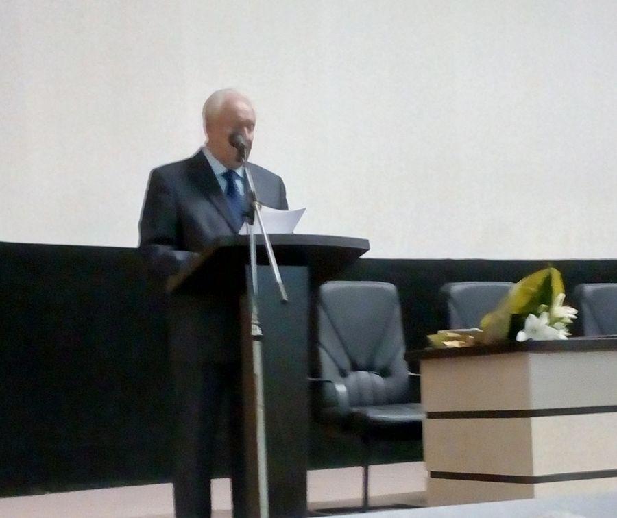 Відкрив Конференцію Голова Української спілки в'язнів-жертв нацизму Маркіян Демидов